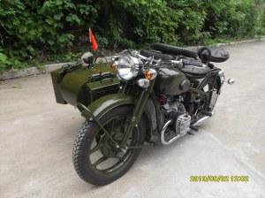 Hot Sale 750cc 32hp Army Green Motorcycle Sidecar Bike