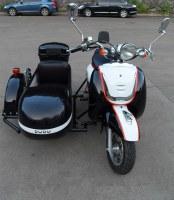 Three wheels electric Motorcycle Sidecar Kaixindudu