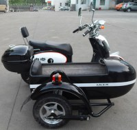 Mini Electric Police Motorcycle with Sidecar