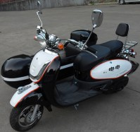 Black and white color mini electric motorcycle sidecar