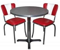 SET DINER US VINTAGE TABLE + 2 CHAISES
