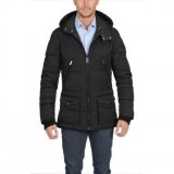 Men Quilted Parka Black USI-9130-A