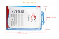 SW-418 Hard plastic card holder