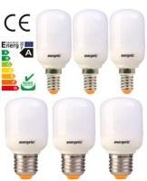 ENERGETIC Softlight T45 CFL: 5W/7W, E14/E27, 2700K/6400K
