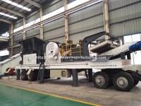 Safe operation tire type Mobile Stone Limestone crushing station, asphalt concrete stone crusher plant