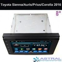 Toyota Sienna Auris Prius Corolla Android Car Dvd 2015 2016