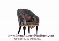Le tissu de chaises en cuir de chaises dinant la salle à manger de chaises de luxe clas...