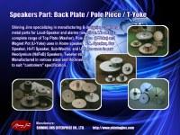 Pièces de haut-parleur: plaque arrière et jougs de pot fabriqués à Taiwan