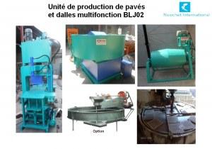 unit de production de pav s et dalles hydraulique blj02 import export. Black Bedroom Furniture Sets. Home Design Ideas