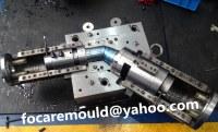 Courbe coulissant construction de moules de montage | filtre tuyau moule