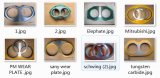 China manufactuer of concrete pump spare part , wear plate & cutting ring