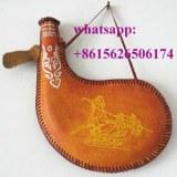 Vintage cuir bota sac devessie d'eau