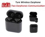 Support de communication True Earphone-deux écouteurs