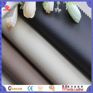 Classical design embossed litchi leather fabric for sofa