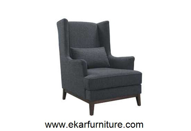 chaise moderne fauteuil oreilles en cuir noir meubles yx025 import. Black Bedroom Furniture Sets. Home Design Ideas